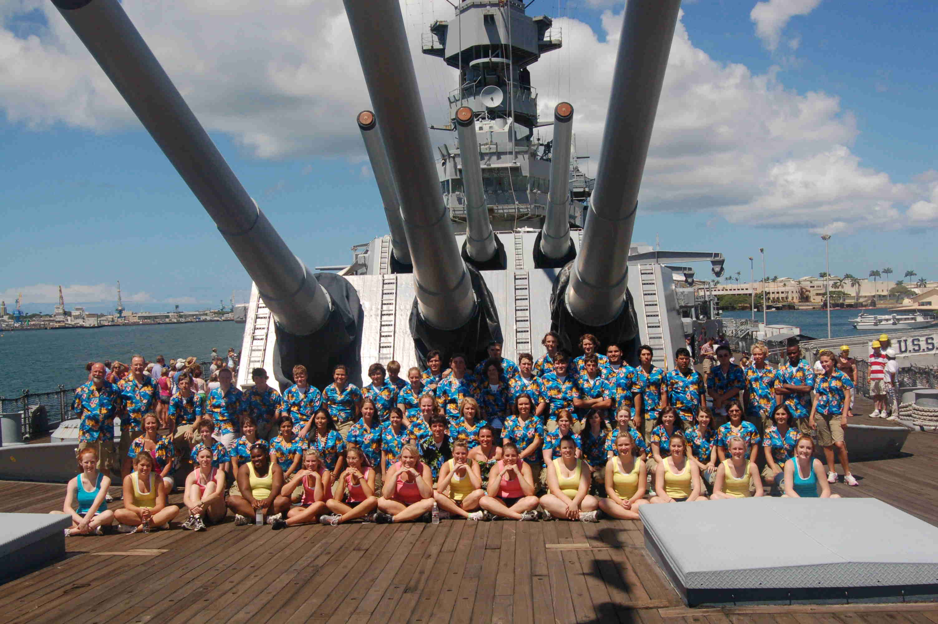 On the deck of the Battleship Missouri Memorial